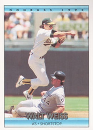 1992 Donruss #71 Walt Weiss VG Oakland Athletics