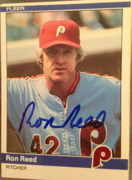 Ron Reed Autographed 1984 Fleer #45