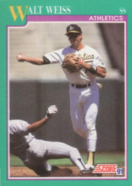 1991 Score #171 Walt Weiss VG Oakland Athletics