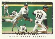 1995 Topps #110 Walt Weiss VG  Colorado Rockies