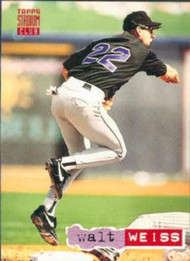 1994 Stadium Club #581 Walt Weiss VG Colorado Rockies