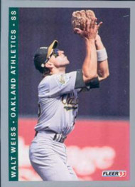 1993 Fleer #300 Walt Weiss VG Oakland Athletics
