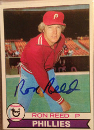 SOLD 1881 Ron Reed Autographed 1979 Topps #177