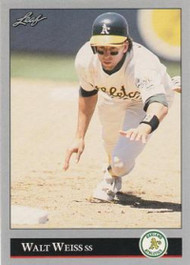 1992 Leaf #380 Walt Weiss VG Oakland Athletics