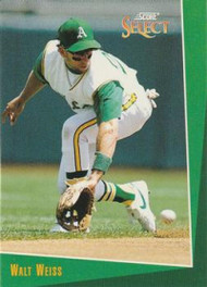 1993 Select #192 Walt Weiss VG Oakland Athletics