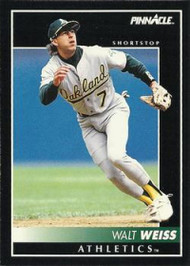 1992 Pinnacle #56 Walt Weiss VG Oakland Athletics