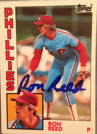 Ron Reed Autographed 1984 Topps Tiffany #43