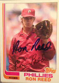 Ron Reed Autographed 1982 Topps #581