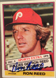 Ron Reed Autographed 1976 Topps Traded #58T