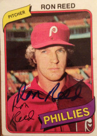 Ron Reed Autographed 1980 Topps #609