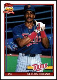 1991 Topps #18 Nelson Liriano VG Minnesota Twins
