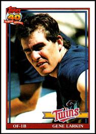 1991 Topps #102 Gene Larkin VG Minnesota Twins