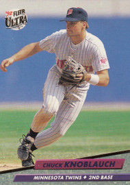 1992 Ultra #93 Chuck Knoblauch VG Minnesota Twins