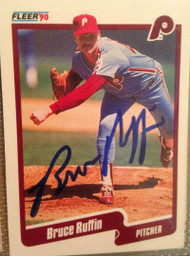 Bruce Ruffin Autographed 1990 Fleer #572