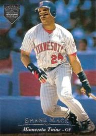 1995 Upper Deck Electric Diamond #190 Shane Mack VG Minnesota Twins
