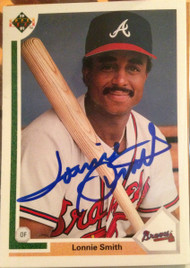 Lonnie Smith Autographed 1991 Upper Deck #305