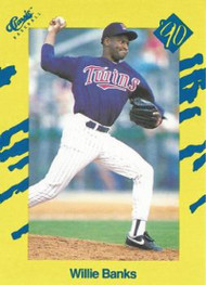1990 Classic Yellow #31 Willie Banks VG Minnesota Twins