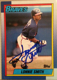 Lonnie Smith Autographed 1990 Topps #152