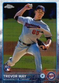 2015 Topps Chrome #118 Trevor May VG RC Rookie Minnesota Twins