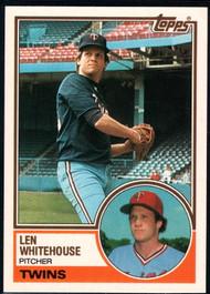 1983 Topps Traded #126T Len Whitehouse VG Minnesota Twins