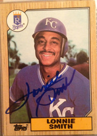 Lonnie Smith Autographed 1987 Topps #69