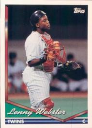 1994 Topps #252 Lenny Webster VG Minnesota Twins