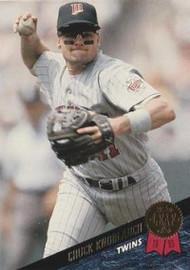 1993 Leaf #98 Chuck Knoblauch VG Minnesota Twins