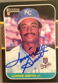 Lonnie Smith Autographed 1987 Donruss #225