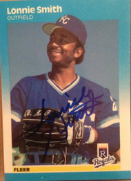 Lonnie Smith Autographed 1987 Fleer #381