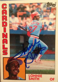 Lonnie Smith Autographed 1984 Topps #580