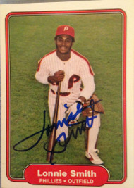 Lonnie Smith Autographed 1982 Fleer #259