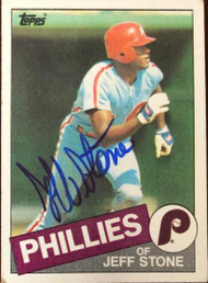 Jeff Stone Autographed 1985 Topps #476