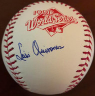 Luis Quinones Autographed Rawlings Official 1990 World Series Baseball VERY RARE