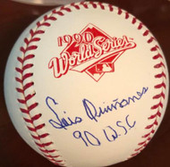 Luis Quinones 90 WSC Autographed Rawlings Official 1990 World Series Baseball VERY RARE
