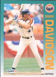 1992 Fleer #432 Mark Davidson VG Houston Astros