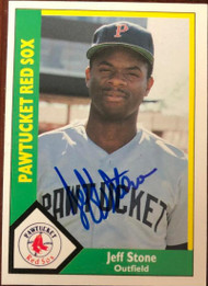 Jeff Stone Autographed 1990 Pawtucket Red Sox CMC #22