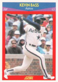 1990 Score 100 Superstars #100 Kevin Bass VG Houston Astros