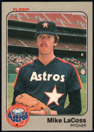 1983 Fleer #455 Mike LaCoss VG Houston Astros