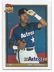 1991 Topps #59 Eric Yelding VG Houston Astros