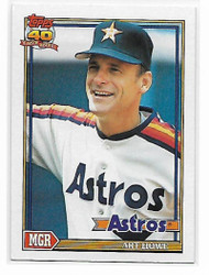 1991 Topps #51 Art Howe MG VG Houston Astros