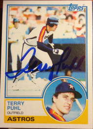 Terry Puhl Autographed 1983 Topps #39