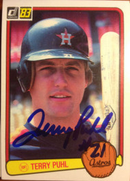Terry Puhl Autographed 1983 Donruss #167