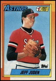 1990 Topps #164 Jeff Juden FDP VG RC Rookie Houston Astros