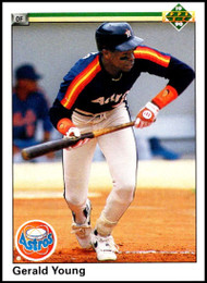 1990 Upper Deck #196 Gerald Young VG Houston Astros