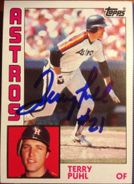 Terry Puhl Autographed 1984 Topps #383