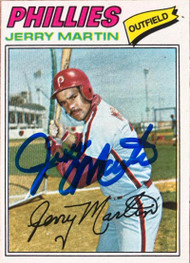 Jerry Martin Autographed 1977 Topps #596 Rookie Card