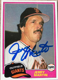 Jerry Martin Autographed 1981 Topps Traded #103