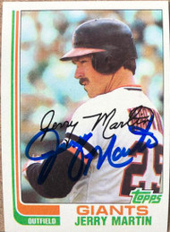 Jerry Martin Autographed 1982 Topps #722