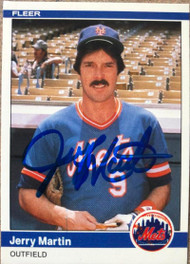 Jerry Martin Autographed 1984 Fleer Update #U-74