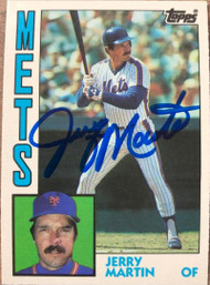 Jerry Martin Autographed 1984 Topps Traded #74T
